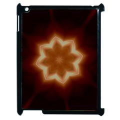 Christmas Flower Star Light Kaleidoscopic Design Apple iPad 2 Case (Black)