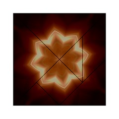 Christmas Flower Star Light Kaleidoscopic Design Acrylic Tangram Puzzle (6  x 6 )
