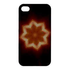 Christmas Flower Star Light Kaleidoscopic Design Apple iPhone 4/4S Premium Hardshell Case