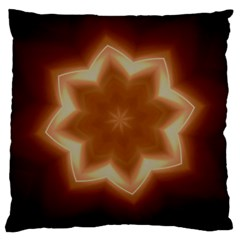 Christmas Flower Star Light Kaleidoscopic Design Large Cushion Case (Two Sides)