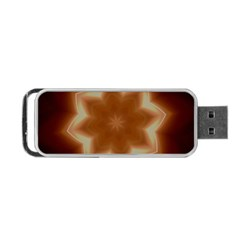 Christmas Flower Star Light Kaleidoscopic Design Portable USB Flash (Two Sides)