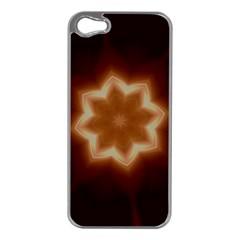 Christmas Flower Star Light Kaleidoscopic Design Apple iPhone 5 Case (Silver)