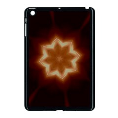 Christmas Flower Star Light Kaleidoscopic Design Apple iPad Mini Case (Black)