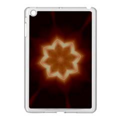Christmas Flower Star Light Kaleidoscopic Design Apple iPad Mini Case (White)