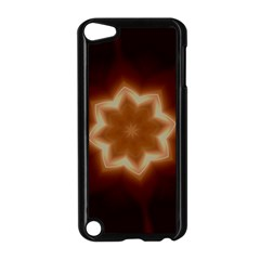 Christmas Flower Star Light Kaleidoscopic Design Apple iPod Touch 5 Case (Black)