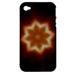 Christmas Flower Star Light Kaleidoscopic Design Apple iPhone 4/4S Hardshell Case (PC+Silicone)
