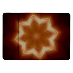 Christmas Flower Star Light Kaleidoscopic Design Samsung Galaxy Tab 8.9  P7300 Flip Case