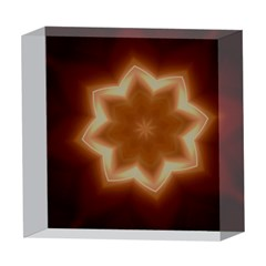 Christmas Flower Star Light Kaleidoscopic Design 5  x 5  Acrylic Photo Blocks