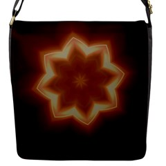Christmas Flower Star Light Kaleidoscopic Design Flap Messenger Bag (S)