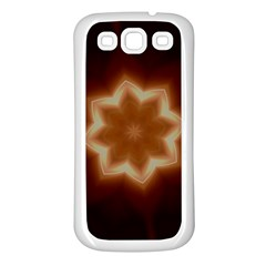 Christmas Flower Star Light Kaleidoscopic Design Samsung Galaxy S3 Back Case (White)