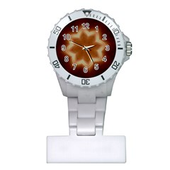 Christmas Flower Star Light Kaleidoscopic Design Plastic Nurses Watch