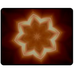 Christmas Flower Star Light Kaleidoscopic Design Double Sided Fleece Blanket (Medium)