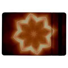 Christmas Flower Star Light Kaleidoscopic Design iPad Air Flip