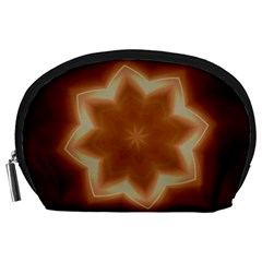 Christmas Flower Star Light Kaleidoscopic Design Accessory Pouches (Large)