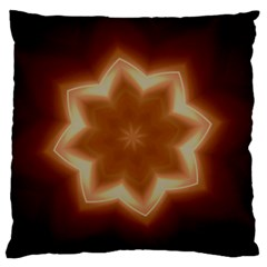 Christmas Flower Star Light Kaleidoscopic Design Large Flano Cushion Case (Two Sides)