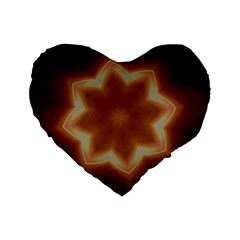 Christmas Flower Star Light Kaleidoscopic Design Standard 16  Premium Flano Heart Shape Cushions