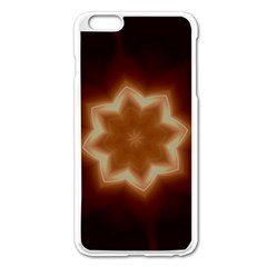 Christmas Flower Star Light Kaleidoscopic Design Apple iPhone 6 Plus/6S Plus Enamel White Case