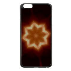 Christmas Flower Star Light Kaleidoscopic Design Apple iPhone 6 Plus/6S Plus Black Enamel Case