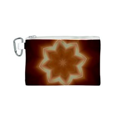 Christmas Flower Star Light Kaleidoscopic Design Canvas Cosmetic Bag (S)