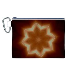Christmas Flower Star Light Kaleidoscopic Design Canvas Cosmetic Bag (L)