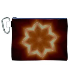Christmas Flower Star Light Kaleidoscopic Design Canvas Cosmetic Bag (XL)