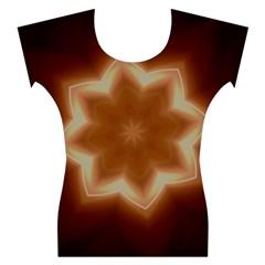 Christmas Flower Star Light Kaleidoscopic Design Women s Cap Sleeve Top