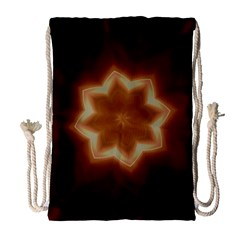 Christmas Flower Star Light Kaleidoscopic Design Drawstring Bag (Large)