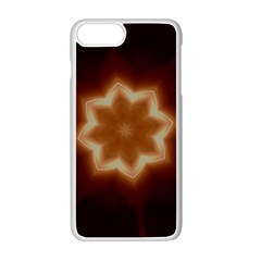 Christmas Flower Star Light Kaleidoscopic Design Apple iPhone 7 Plus White Seamless Case