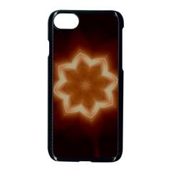 Christmas Flower Star Light Kaleidoscopic Design Apple Iphone 7 Seamless Case (black)