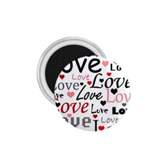 Love pattern - red 1.75  Magnets