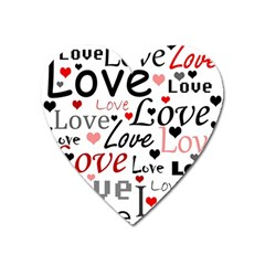 Love pattern - red Heart Magnet