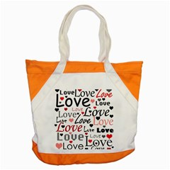 Love Pattern   Red Accent Tote Bag