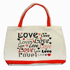 Love pattern - red Classic Tote Bag (Red)