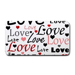 Love pattern - red Medium Bar Mats