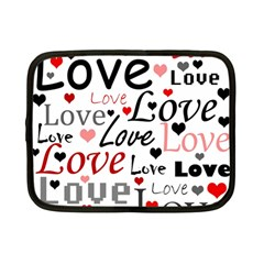 Love pattern - red Netbook Case (Small)