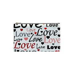 Love pattern - red Cosmetic Bag (Small)
