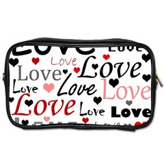 Love pattern - red Toiletries Bags 2-Side