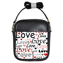 Love pattern - red Girls Sling Bags