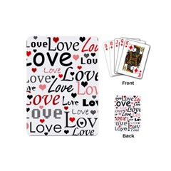 Love pattern - red Playing Cards (Mini)