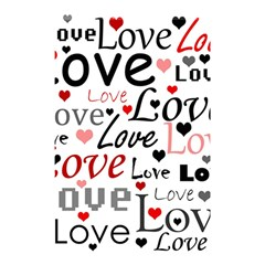 Love pattern - red Shower Curtain 48  x 72  (Small)