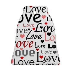 Love pattern - red Bell Ornament (2 Sides)