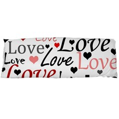 Love pattern - red Body Pillow Case Dakimakura (Two Sides)