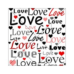 Love pattern - red Acrylic Tangram Puzzle (6  x 6 )