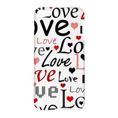 Love pattern - red Apple iPod Touch 5 Hardshell Case