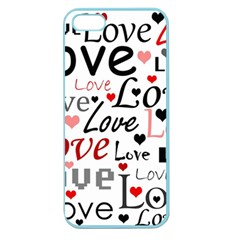 Love pattern - red Apple Seamless iPhone 5 Case (Color)