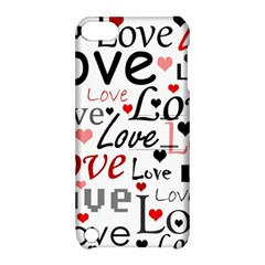 Love pattern - red Apple iPod Touch 5 Hardshell Case with Stand