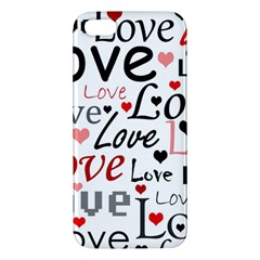 Love pattern - red Apple iPhone 5 Premium Hardshell Case