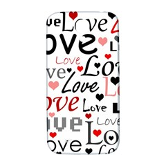 Love pattern - red Samsung Galaxy S4 I9500/I9505  Hardshell Back Case