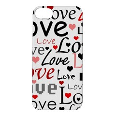 Love pattern - red Apple iPhone 5S/ SE Hardshell Case