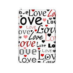 Love pattern - red iPad Mini 2 Hardshell Cases